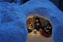 雪おろしの後のお楽しみ!