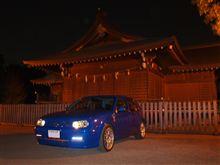町田の神社で夜景モード