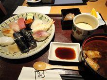 やまみつの寿司ランチ