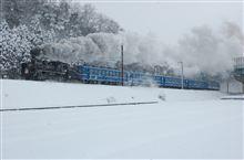 雪の中、、、(^_^)