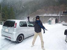 雪を見に行きました