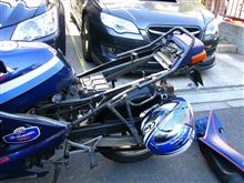 [CBR250Four] ヘルメットホルダー空転!の巻(その2・現状把握&対処編)