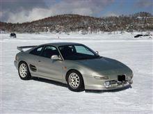女神湖氷上ドライブ