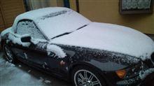 寒すぎぃ~!!雪が・・・・。