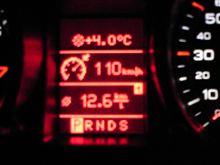 過去最高燃費でした!