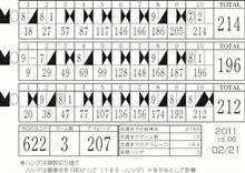 本日のボウリング2011/02/21