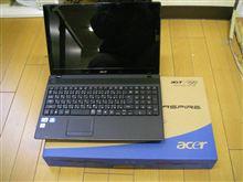 acer AS5742 F52DK ノートPC ~はちろくまん的電脳生活~