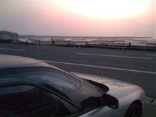 ミラーに写る夕陽(その後)