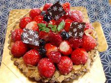 2011年2月のケーキ、いちごのショコラタルト(^O^)
