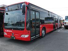 昨日の連結バスの件ですが・・・結局、見に行ってきました。
