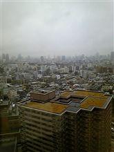 雨に煙る東京
