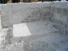 氷のベッド...