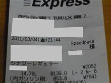 4日前よりリッター7円も値上がっていたのに!!