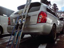 季節遅れの初スキー