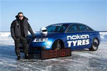 ノキアン アウディが氷上最速記録を更新 331.61km/h(^ω^)/