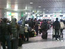 新千歳空港は大混乱