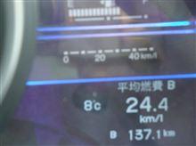 25Km/Lは遠い
