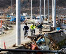 被災地に希望の電柱