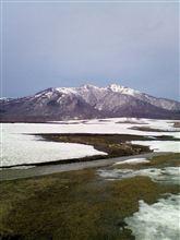 蒜山高原、雪。