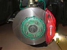 EVO7 フロントブレーキローター交換