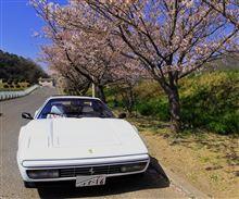 フェラーリ328と桜