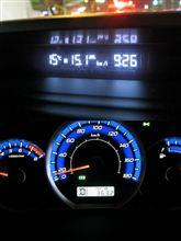 エクシーガ燃費チャレンジ 4AT&AWD