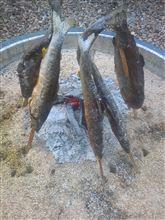 BBQ用自作囲炉裏(笑)!美味しい焼き魚を作る為に!