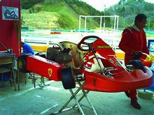 今日は^^カートをフェラーリに換えました~ドライバーさん頼むよ!