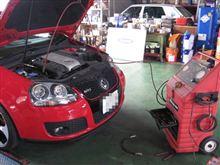 メンテナンスは大事...ゴルフⅤ GTI...スナッポンドクターカーボン+パワーエアコン