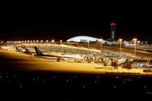 夜の関西空港