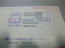 毎年恒例の自動車税