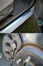 レガシィブレーキパッド交換とステラにサイドシルプレート