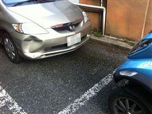 乗用車にぶつけられました。