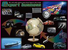 We are sending overseas parts of the car made in Japan.