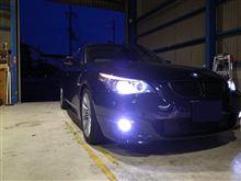兵庫県オートセキュリティサイレンズ様BMW 5シリーズに大人気D2 SMART HID PRO KIT装着です!