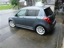 天然洗車・・・・