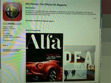 本日のiPad App 「Alfa magazine」