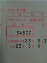 平成23年度自動車税