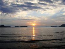 梅雨の合間の夕陽