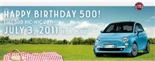 HAPPY BIRTHDAY 500 ! FIAT 500 Pic-Nic 2011