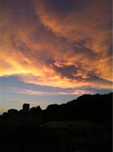 綺麗な夕焼けでしたね