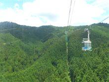 金剛山、ロープウェイに乗って「ちはや園地」に行く!
