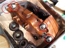 |д゚) インプ純正ブレンボ用キャリパー開き防止ボルト