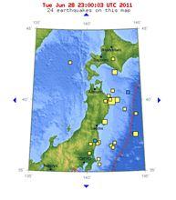 6/29までの地震