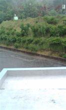 洗車をすると必ず雨が降る20110629
