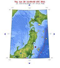 6/30までの地震