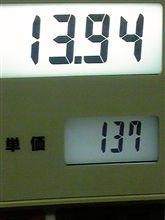 ガソリン↑→→→↓→明日は休みですf^_^;