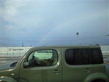 キューブと虹。