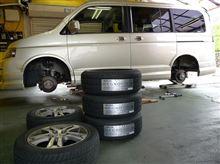 ステップワゴン タイヤ交換 レグノ GRV