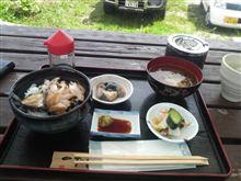 奥尻島で昼飯